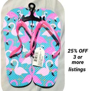 Flamingo flip flops New Pink slides slip on sandal